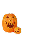 Two Jack O Lantern Pumpkins Royalty Free Stock Images