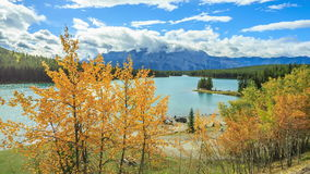 Two Jake Lake. Two Jack Lake - Picture of Banff National Park stock footage