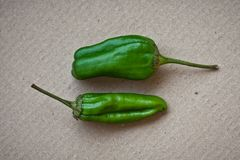 Two Jalapeno Peppers Stock Photo