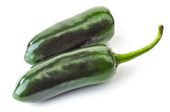 Two jalapeno peppers Royalty Free Stock Photos