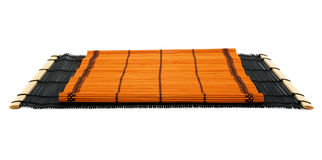 Two Japanese bamboo rugs. Stock Image