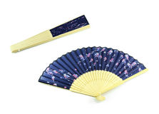Two japanese folding fans in different positions Stock Images