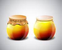 Two jar of jam Royalty Free Stock Photos