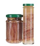 Two jars of anchovy fillets Royalty Free Stock Images