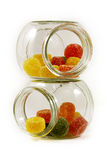 Two Jars with candies Stock Images