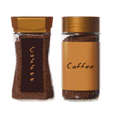 Two jars of instant coffee Stock Image