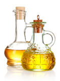 Two jars with the oil Stock Photo