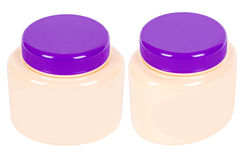 Two jars with pink cream Royalty Free Stock Photo