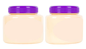Two jars with pink cream Stock Images