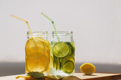 Two jars of soda Stock Photo