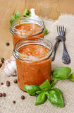 Two jars of tomato sauce (Bolognese sauce) Stock Photography