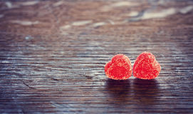 Two jelly heart Royalty Free Stock Photography