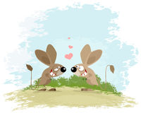 Two jerboa love. Vector illustration of a two jerboa love Stock Image