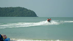 Two Jet Ski. In action off coast Langkawi Island Malaysia stock video footage