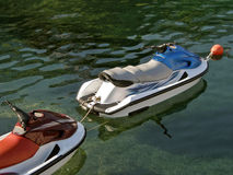 Two jet ski  on sea Stock Photography