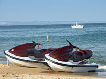 Two jet skies Royalty Free Stock Images