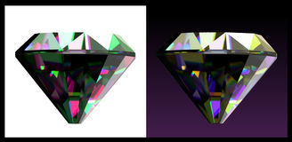Two of jewelry gems. Vector Royalty Free Stock Photo