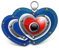 Two jewelry hearts Royalty Free Stock Image