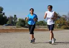 Two Joggers Royalty Free Stock Photo