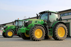 Two John Deere Agricultural Tractors Royalty Free Stock Photography