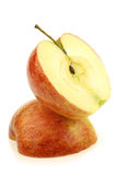 Two jonagold apple halves Royalty Free Stock Images