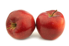 Two jonagold apples Royalty Free Stock Photos