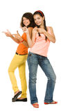 Two joyful girls Royalty Free Stock Photography