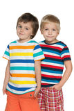 Two joyful little boys Royalty Free Stock Images