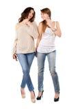 Two joyful women Royalty Free Stock Images