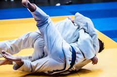Two judoka, Royalty Free Stock Photography