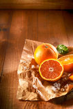 Two juicy oranges Royalty Free Stock Photography