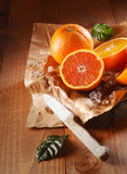 Two juicy oranges Royalty Free Stock Photo