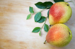 Two juicy pears Stock Image