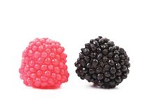 Two jujube colored balls Royalty Free Stock Photography