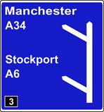 Two junctions in quick succession motorway sign. Two junctions in quick succession motorway road traffic sign Royalty Free Stock Photos