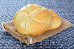 Two kaiser bread Stock Images