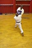 Two karate men fighting Royalty Free Stock Photos