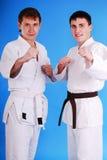 Two karatekas. Royalty Free Stock Photography