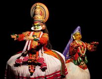 Two kathakali actors Royalty Free Stock Image