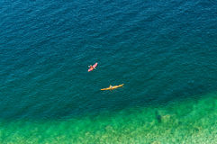 Two kayak paddlers Royalty Free Stock Photo