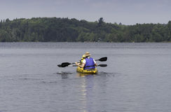 Two kayak paddlers Royalty Free Stock Photography