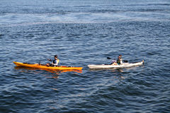 Two kayaks Royalty Free Stock Photography