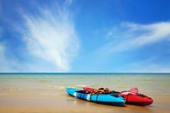 Two kayaks Stock Photos