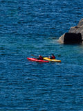 Two kayaks on Lake Superior Royalty Free Stock Photos