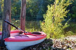 Two Kayaks at the ready Royalty Free Stock Photography