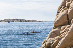 Two kayaks Swedish West Coast archipelago Royalty Free Stock Image