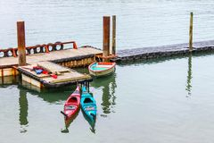 Two kayaks Royalty Free Stock Images