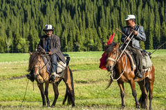 Two Kazak herdsman Royalty Free Stock Photo