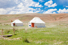 Two Kazakh yurt Stock Photography