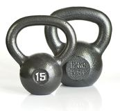 Two kettle bells Royalty Free Stock Photos